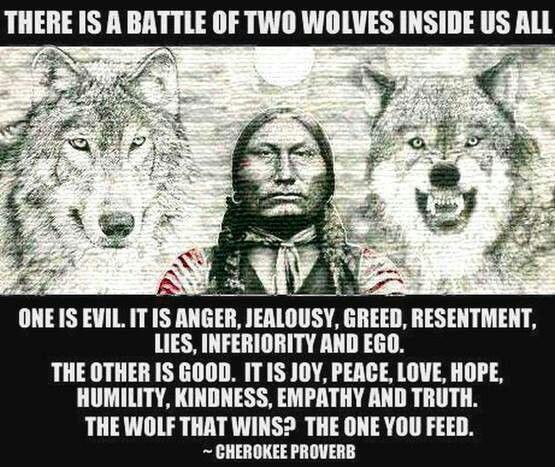 Cherokee proverb: