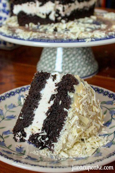 Irish Stout Cake with Bailey's Ganache by JavaCupcake.com