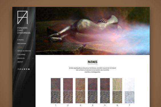 Site web design Fonderie d'Art Inverness | TM, Agence design