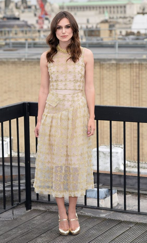 Pin for Later: All the Cool Girls Summer in London Keira Knightley Keira Knightley in Simone Rocha at the London Begin Again photocall.