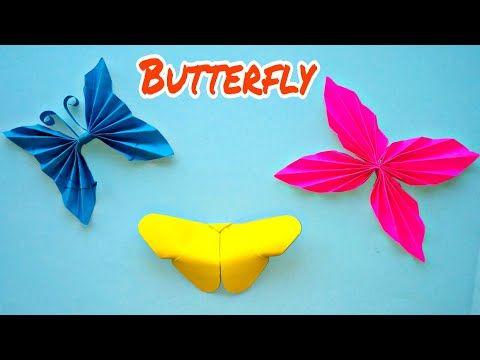 Beautiful Paper Butterflies Craft Making Easy Diy Youtube Paper Butterfly Crafts Butterfly Crafts Paper Butterflies