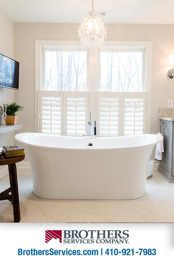 Every Long Day Demands A Free Standing Soaker Tub This Relaxing Bathroom Remodel Utilizes Space Effi Bathrooms Remodel Relaxing Bathroom Full Bathroom Remodel
