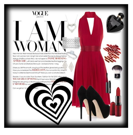 """Red"" by tilli-777 ❤ liked on Polyvore featuring Coast, Giuseppe Zanotti, Tory Burch, Effy Jewelry, MAC Cosmetics, NARS Cosmetics and Lipsy"
