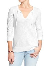 Women's Split-Neck Sweaters