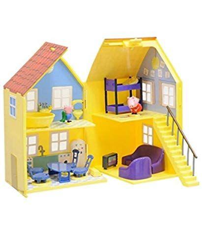 Peppa 4963 Maison De Luxe Avec 2 Personnages Amazon Fr Jeux Et Jouets Attic House Home Free Kids Coloring Pages