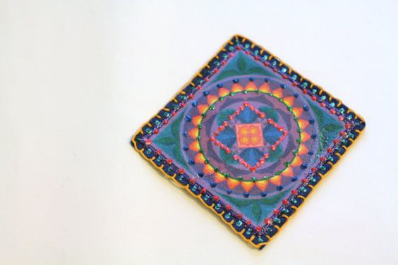 Mandala Patch Personalized Hand Embroidered by MaineCoonCrafts, $15.00