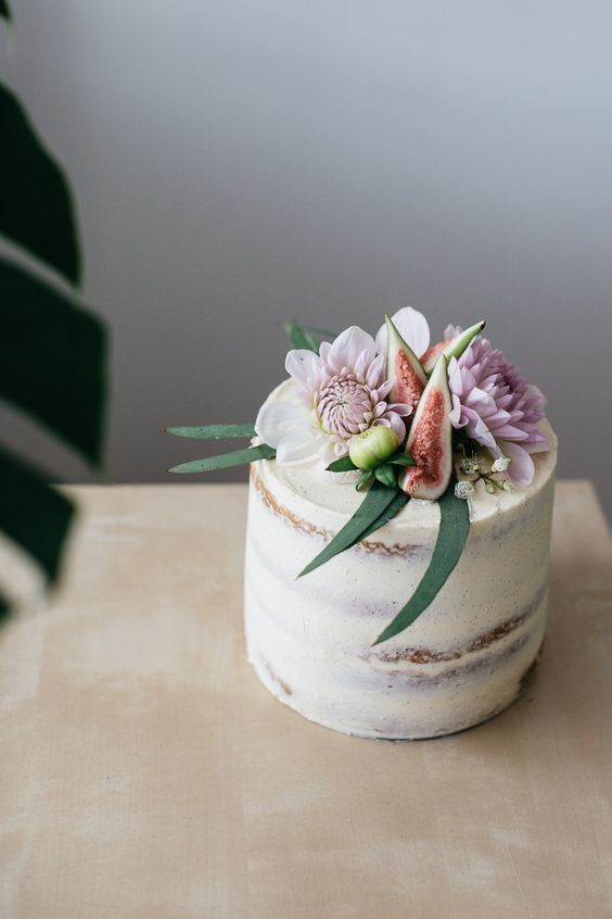 Cardamom Layer Cake with Salted Caramel and Figs More