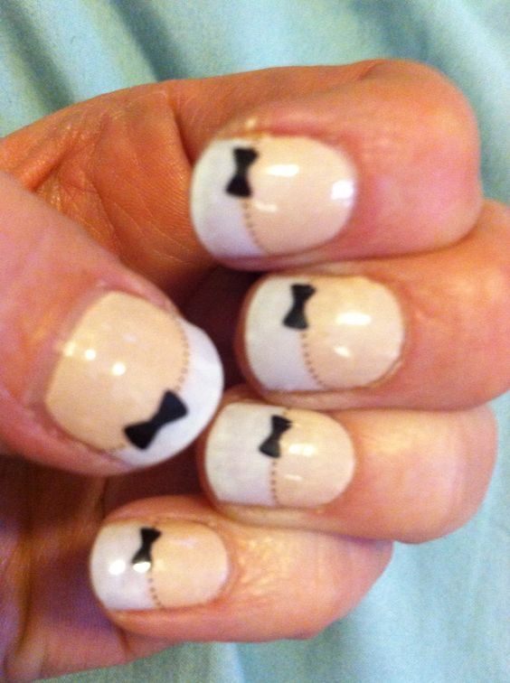 French Tips with Bows Check these out and more at ...