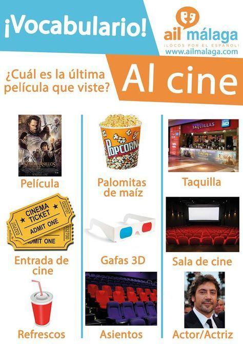 Vocabulario Cine Learning Spanish Vocabulary Learning Spanish Spanish Language Learning