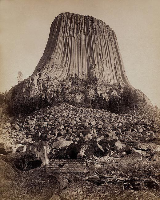 Old West Devil's Tower Monument 1890 8x10 Silver Halide Photo Print | Collectibles, Cultures & Ethnicities, Western Americana | eBay!