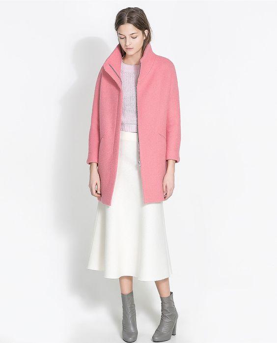 Zara Bouclé Coat