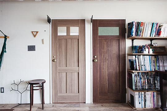 Case03 シェアハウス 塗る 選ぶ 飾る 部屋づくりを楽しむドア