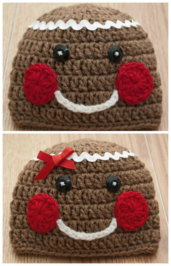 Gingerbread Hats And Crochet Owl Hat On Pinterest