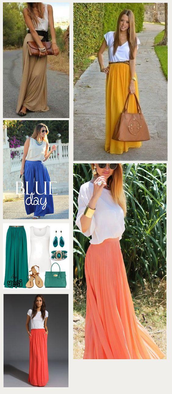 http://tiendasdu.cl/blog-ropa-mujer-femenina-moda/tendencia-faldas-largas.html leveza, delícia...