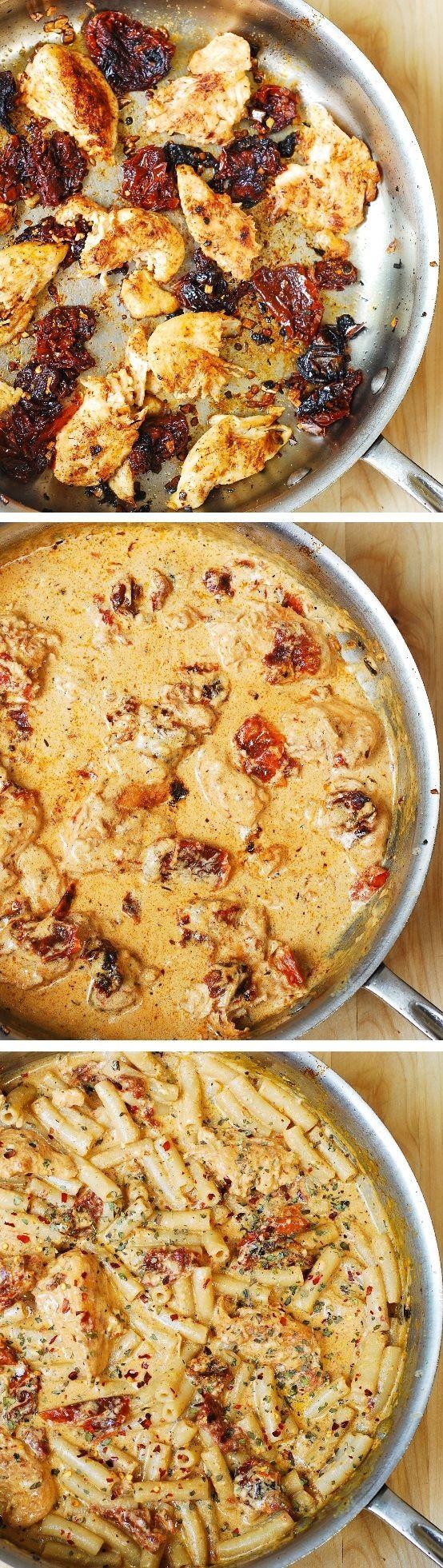 Chicken Mozzarella Pasta with Sun-Dried Tomatoes | Recipe ...