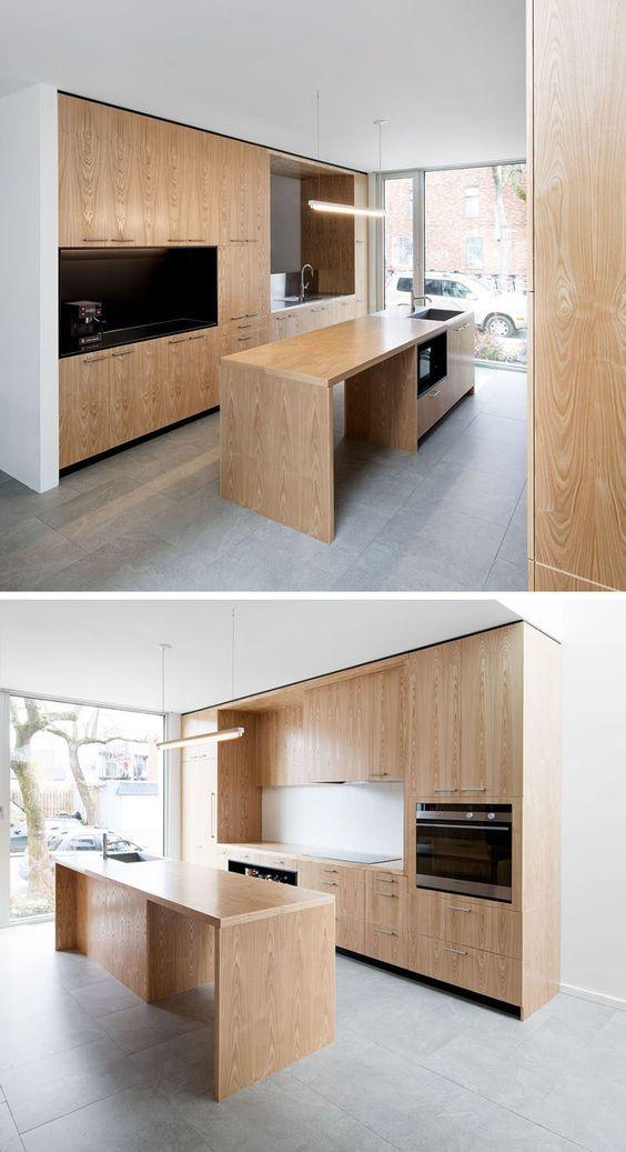 Ilha de cozinha Idea Lighting - Use um longo leve em vez de várias luzes pingente