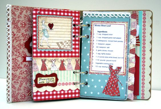 Creative Recipe Book Cover : Vicki shows all the pages in this cute recipe book she