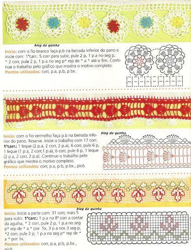 crochet - bicos - barrados - edgings - Raissa Tavares - Álbumes web de Picasa