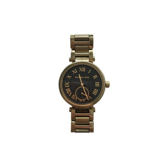 Pre-owned Wrist watch (€186) ❤ liked on Polyvore featuring jewelry, watches, gold, gold jewellery, gold digital watches, digital watches, gold wristwatches and gold wrist watch