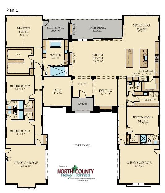 Sterling Heights At The Lakes North County New Homes Family House Plans New House Plans House Plans For Sale
