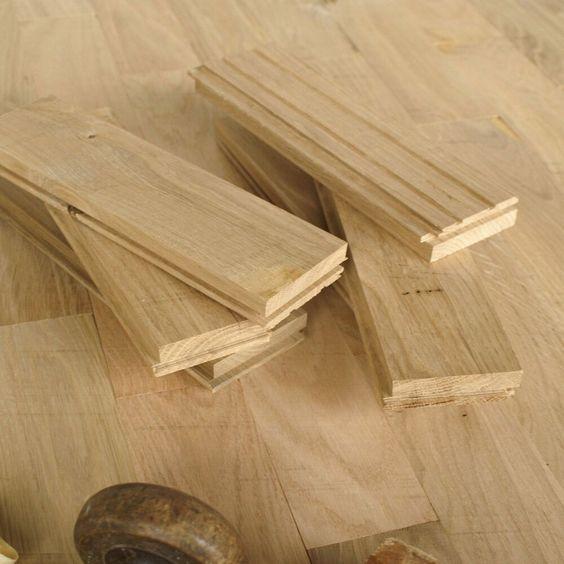 22mm Thick Solid Oak Parquet - Antique / Very Rustic - Wood Strip Flooring PKM1