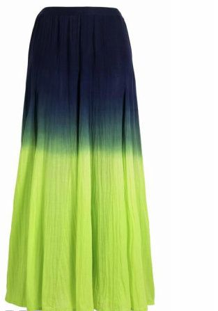I think I could go for a tie dyed or ombre maxi skirt. You?