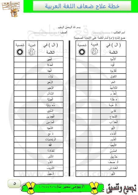 خطة علاج للضعاف في مادة اللغة العربية الصف الرابع لغة عربية الفصل الثاني 2018 2019 المناهج الإماراتية In 2021 Numbers Preschool Arabic Lessons Language