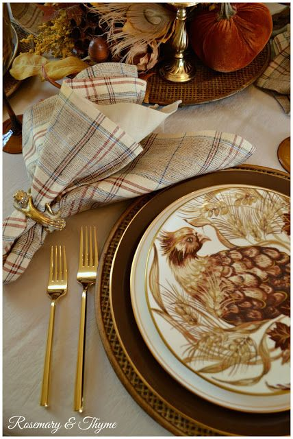 table.quenalbertini: A Woodland Tablescape | Rosemary and Thyme