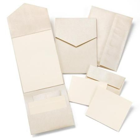 HBH Champagne Shimmer Pocket Invitation Kit