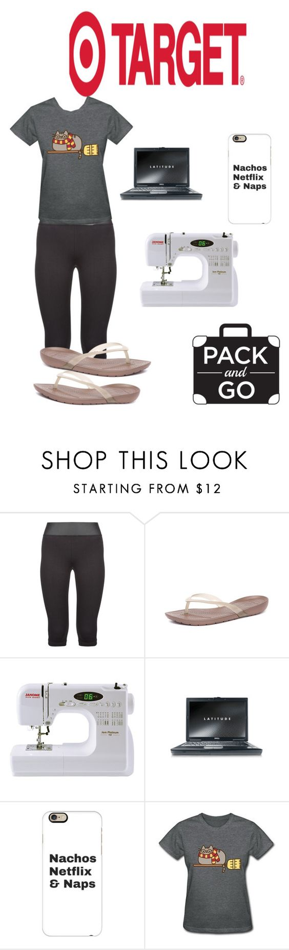 """""""Staycation #packandgo"""" by kelly-haven-russell ❤ liked on Polyvore featuring Olympia, Crocs, JEM, Casetify and Pusheen"""