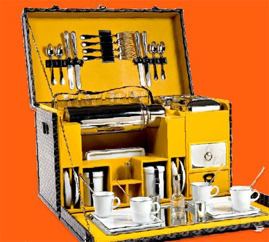 Goyard picnic trunk for your next outdoor eating adventure