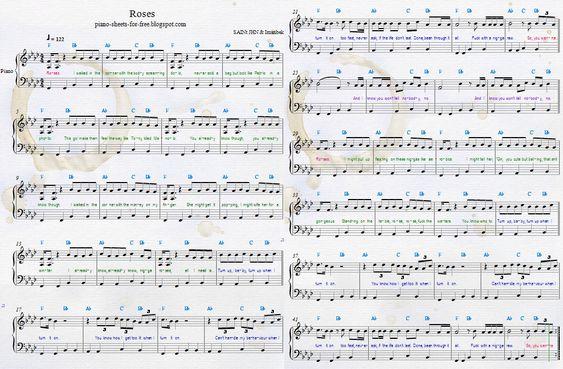 SAINt JHN Roses piano sheets