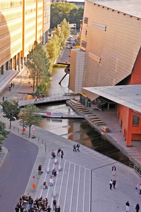 Created by Atelier Dreiseitl, the design for the Potsdamer Platz in Berlin was awarded with the DGNB Certificate of the German Sustainable Building Council for sustainable city quarters. Image courtesy of Atelier Dreiseitl. - Image - Design Build Network