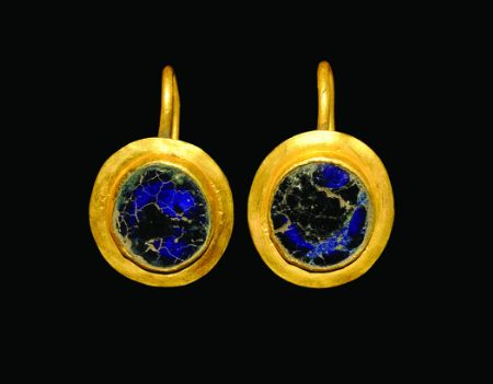 Roman Gold Disc Earrings, 1st century A.D.: