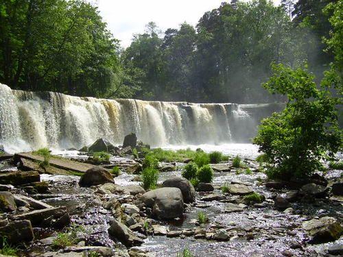 Keila waterfall, National Park, Estonia, by Inboil