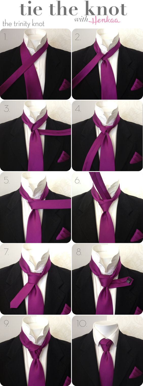 How to tie a Necktie - The Trinity Knot - Animated How to tie the Trinity Knot video without hands getting in the way.