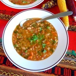 White bean soup, Roasted tomatoes and White beans on Pinterest