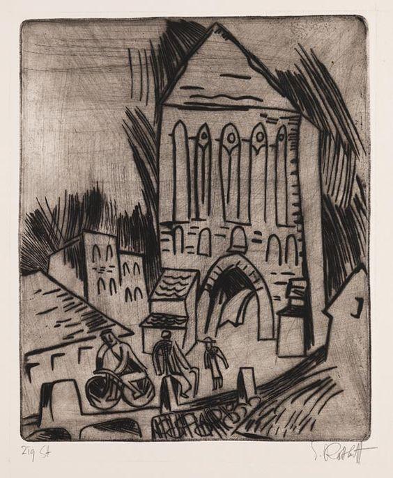 Karl Schmidt-Rottluff - Altes Stadttor (Motiv aus Schlawe)