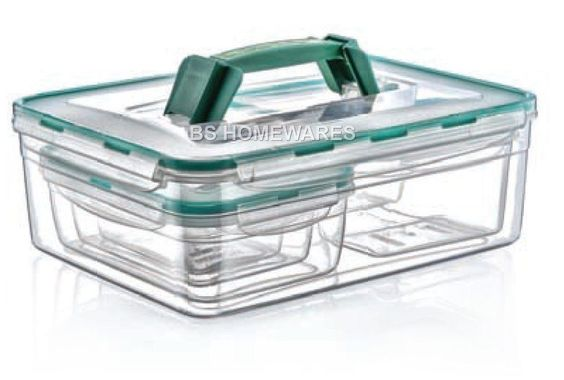 Plastic Clear Storage Fresh Box Combi Set 5.5L Liter Food Container With Lid New