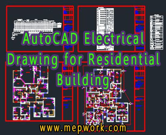 Autocad Electrical Drawing For Residential Building Autocad