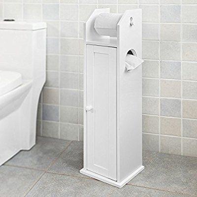 SoBuy® Freistehend weiß Toilettenrollenhalter, Badregal