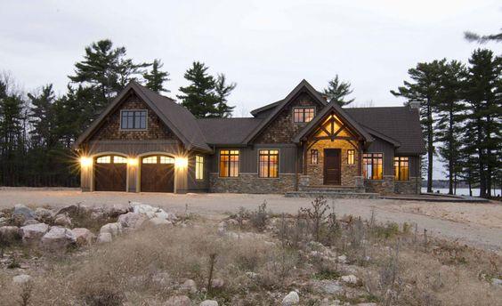Timber frame exterior design normerica authentic timber for Dream homes ontario