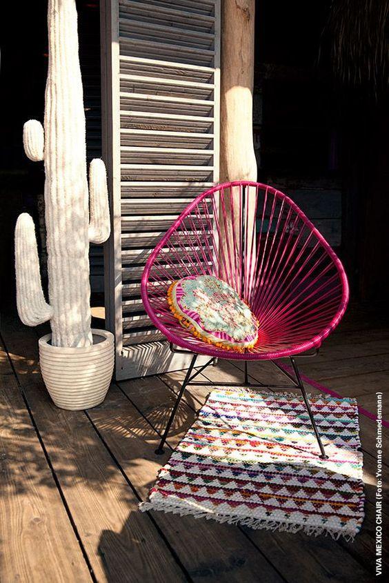Acapulco con almohadón de crochet