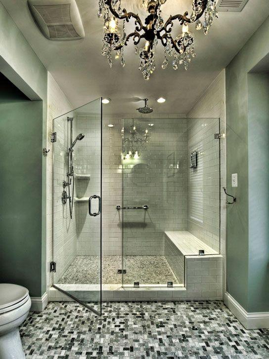 Shower Design - Bench | interior design | Pinterest | Bench, Subway tiles  and House