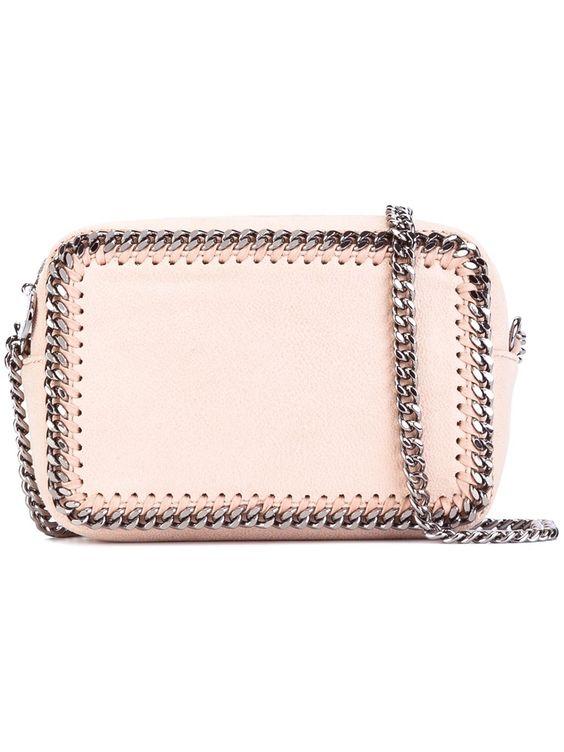 Stella McCartney Falabella top zip crossbody bag in Pale Pink