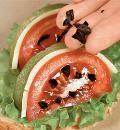 Закуска Арбузный ломтик.  эффектная закуска