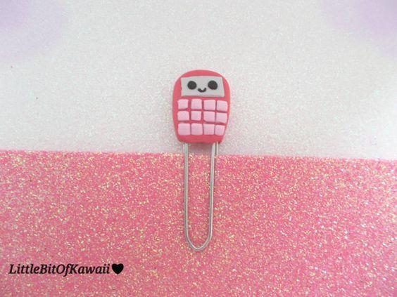 Calculator Kawaii Bookmark Back to School