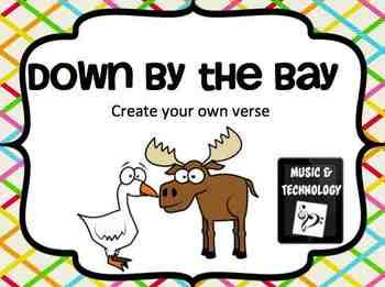 Down By The Bay Classroom Book Worksheet The O 39 Jays