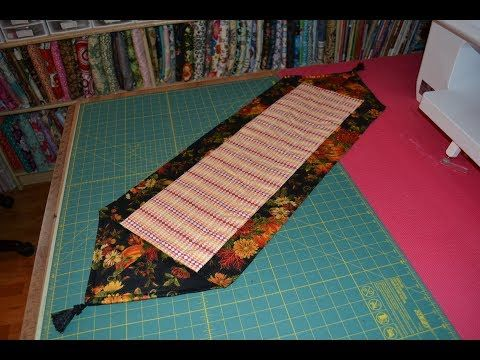 10 Minute Table Runner With Self Border And Mitered Ends Easy Peasy Really Enjoy 10 Minute Table Runner Table Runners Diy Easy Table Runner Diy
