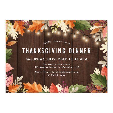 Thanksgiving Helpings Dinner Invitation Zazzle Com In 2020 Dinner Invitations Thanksgiving Potluck Thanksgiving